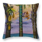 Banana Country Throw Pillow by Vrindavan Das