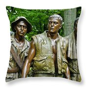 Band Of Brothers Throw Pillow by Christi Kraft
