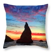 Bandon Clouds Throw Pillow by Darren  White