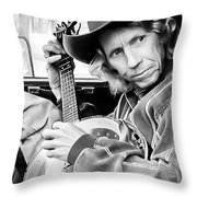 Banjo Man Throw Pillow by Darryl Dalton