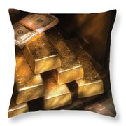 Banker - My Precious  Throw Pillow by Mike Savad