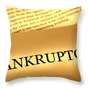 Bankruptcy Notice Throw Pillow by Olivier Le Queinec