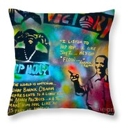 Barack And Jay Z Throw Pillow by Tony B Conscious