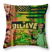 BARACK and MARTIN and Malcolm Throw Pillow by TONY B CONSCIOUS