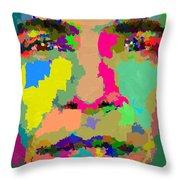Barack Obama - Abstract 01 Throw Pillow by Samuel Majcen
