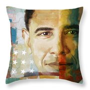 Barack Obama Throw Pillow by Corporate Art Task Force