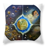Barack Obama Painting Throw Pillow by Augusta Stylianou