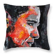 Barack Obama Throw Pillow by Richard Day