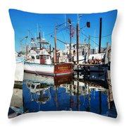 Barb Gail Harbor Corner Throw Pillow by Michael Thomas