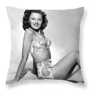 BARBARA STANWYCK Throw Pillow by Granger