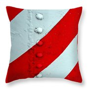 Barber Pole Throw Pillow by Chris Berry