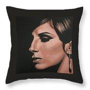Barbra Streisand Throw Pillow by Paul Meijering