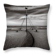 Barkby Beach 2 Throw Pillow by Dave Bowman