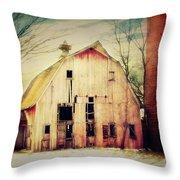 Barn and Silo Throw Pillow by Julie Hamilton