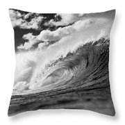 Barrel Clouds Throw Pillow by Sean Davey