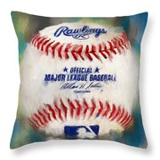 Baseball Iv Throw Pillow by Lourry Legarde