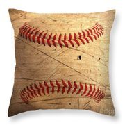 Baseball Throw Pillow by M and L Creations