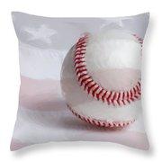Baseball - Painterly Throw Pillow by Heidi Smith