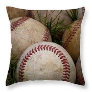 Baseballs Throw Pillow by David Patterson