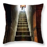 Basement Exit Throw Pillow by Carlos Caetano