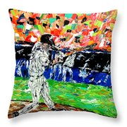 Bases Loaded  Throw Pillow by Mark Moore