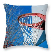 Basketball Net Throw Pillow by Valentino Visentini