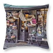 Baskets For Sale Throw Pillow by Heather Applegate