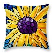 Basking In The Glory Throw Pillow by Sharon Cummings