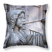 Bass Hall Angel Throw Pillow by Joan Carroll