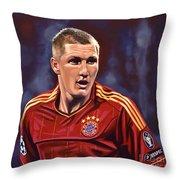 Bastian Schweinsteiger Throw Pillow by Paul Meijering