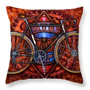 Bates Bicycle Throw Pillow by Mark Howard Jones
