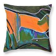 Batting Practice Throw Pillow by Donna Blackhall