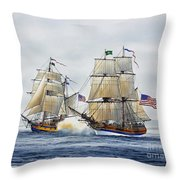 Battle Sail Throw Pillow by James Williamson