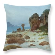 Bay Of Monterey Throw Pillow by Albert Bierstadt