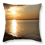 Bayville Sunset Throw Pillow by John Telfer