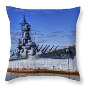 Bb-60 Uss Alabama Throw Pillow by Barry Jones