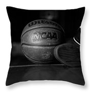 bball Throw Pillow by Molly Picklesimer
