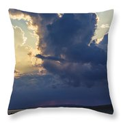 Be Still And Know That I Am God Throw Pillow by Skip Tribby