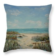 Beach Access Throw Pillow by Stanton Allaben