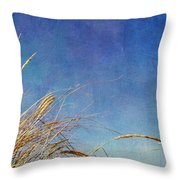 Beach Grass In The Wind Throw Pillow by Michelle Calkins