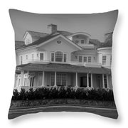 Beach House In Spring Lake - Jersey Shore Throw Pillow by Angie Tirado