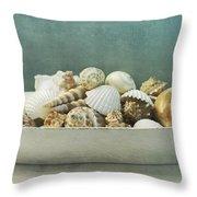 Beach In A Bowl Throw Pillow by Priska Wettstein