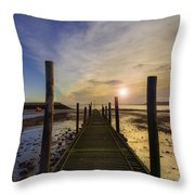 Beach Sunrise v2 Throw Pillow by Ian Mitchell