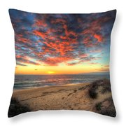 Beachcombers Sunset Throw Pillow by English Landscapes