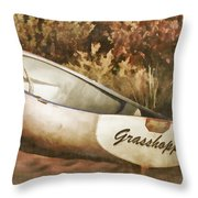 Beached Rowboat Throw Pillow by Carol Leigh