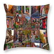 Beacon Hill - Poster Throw Pillow by Joann Vitali