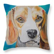 Beagle Throw Pillow by PainterArtist FIN