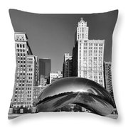 Bean Skyline Throw Pillow by Mike Burgquist