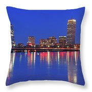 Beantown City Lights Throw Pillow by Juergen Roth