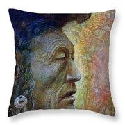 Bear Bull Shaman Throw Pillow by Otto Rapp